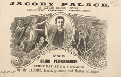 Advert for Mr Jacobs, magician